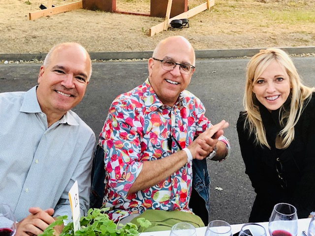 2019 St. Helena Neighborhood Table Dinner Neil and Ken Monnens and Jay Parry