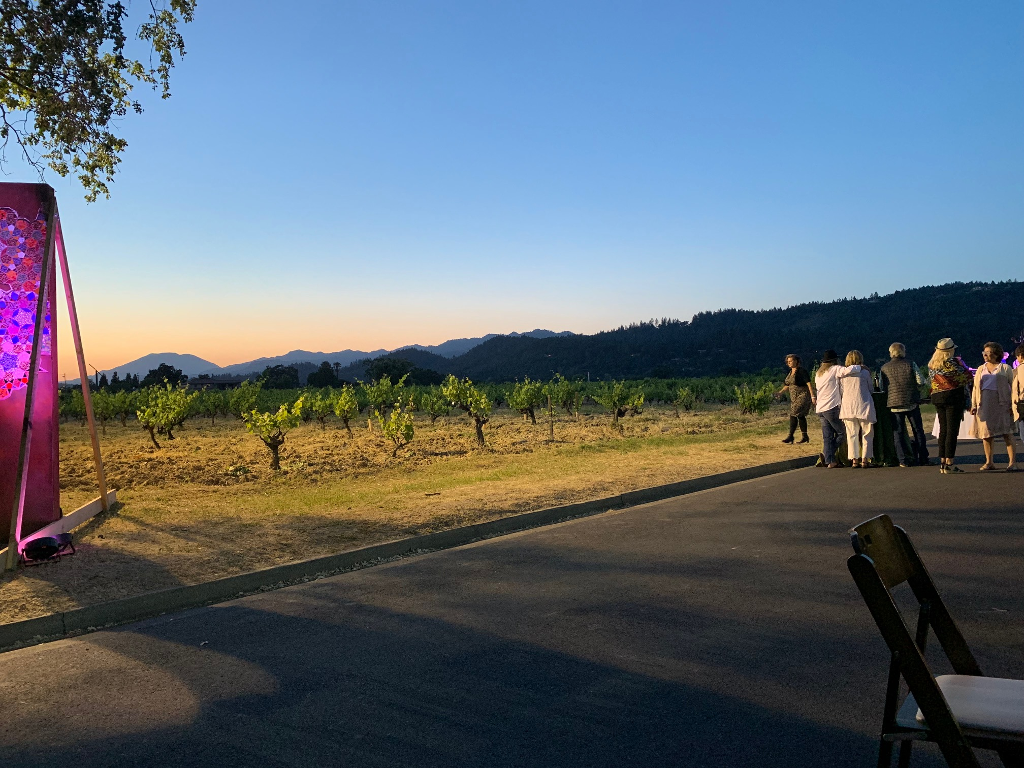 2019 St. Helena Neighborhood Table Dinner Sunset