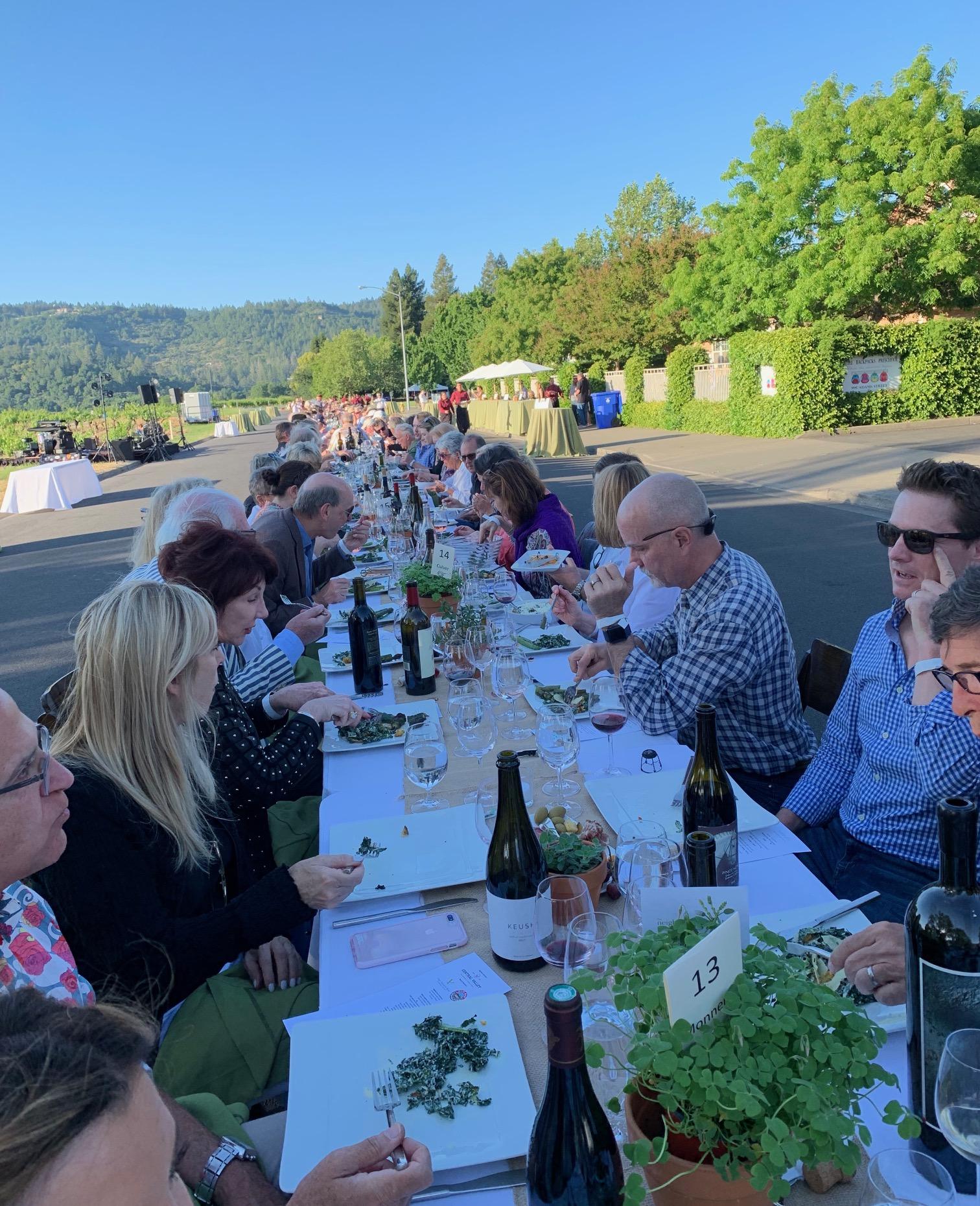 2019 St. Helena Neighborhood Table Dinner Table