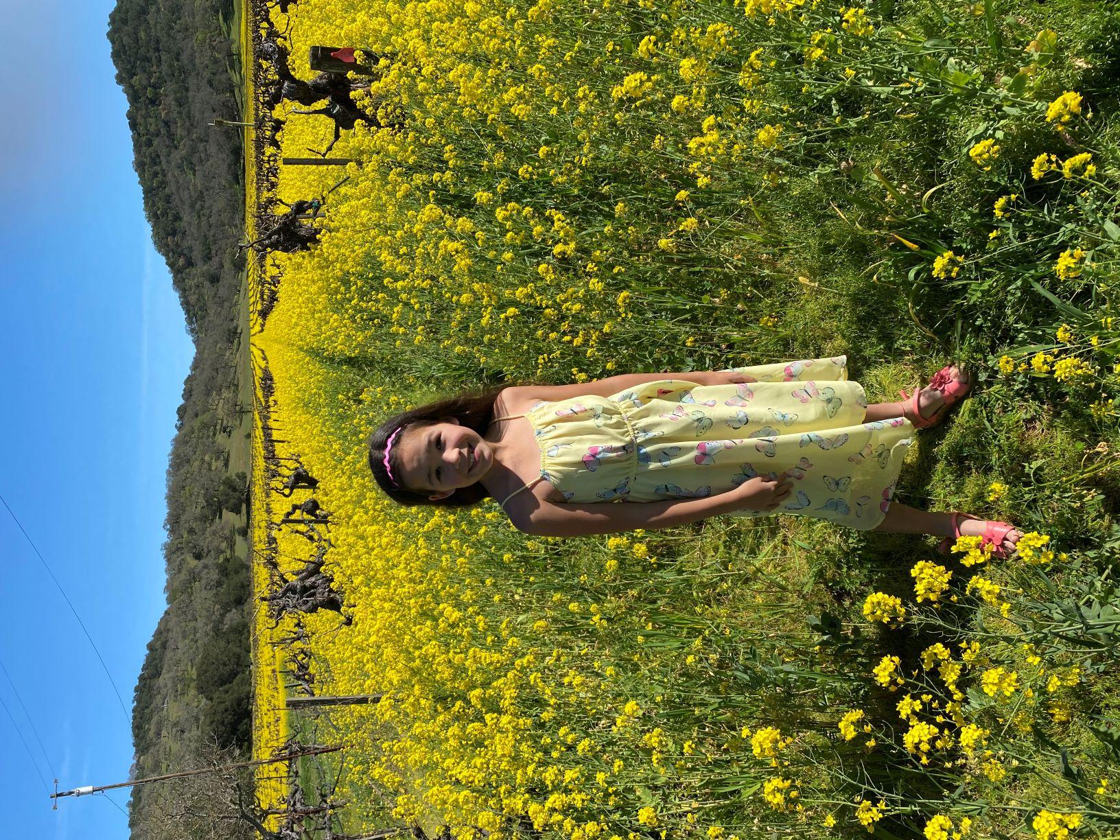 Mia in Mustard Field