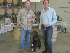 Neil Cooper and his dog Bud from Cooper Wine Company and Randall Dennis